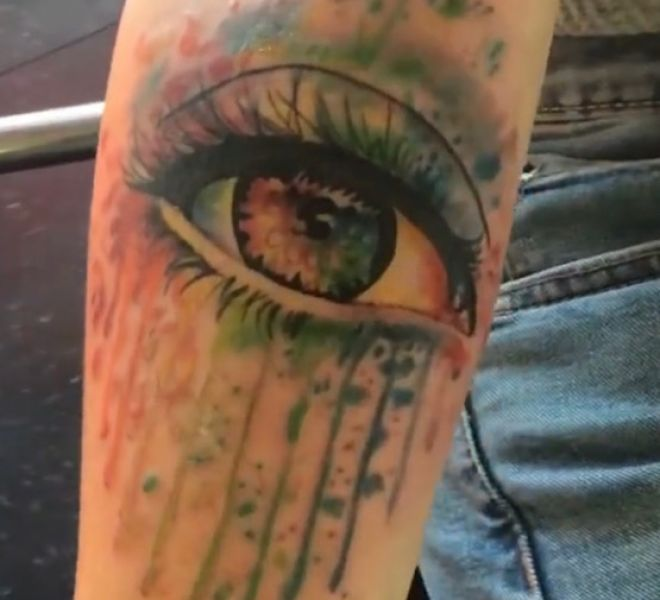 Eye with watercolor